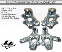 LG Motorsports Drop Spindles for C7 Corvette
