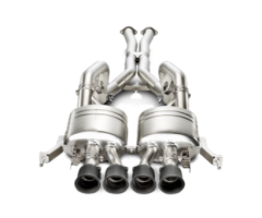 Akrapovic 14-19 Chevrolet Corvette Stingray Evolution Line Cat Back (Titanium) w/ Carbon Tips