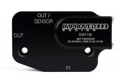 Improved Racing C7 Corvette LT1, LT4 Oil Cooler Adapter with Thermostat